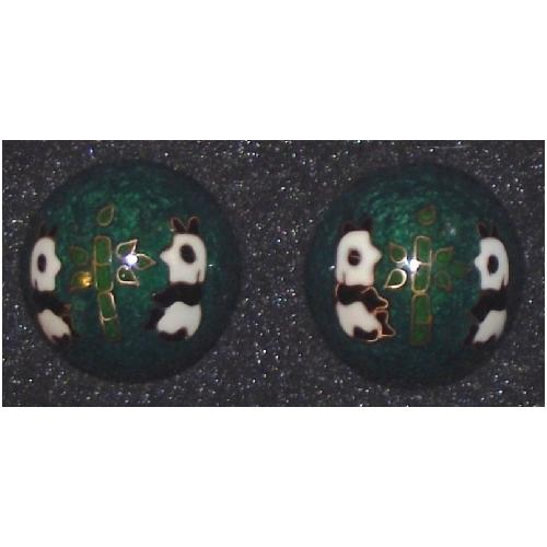 Chinese health balls adorned with Giant Pandas,
