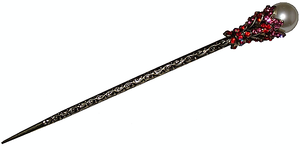 Chinese hair pins decorated with oriental patterns,