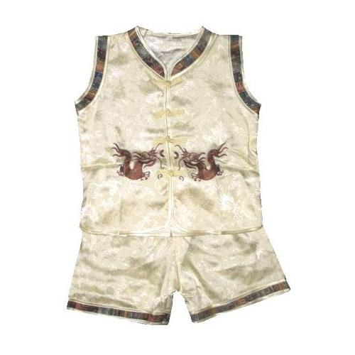 Boys Chinese pyjamas with short length trousers,