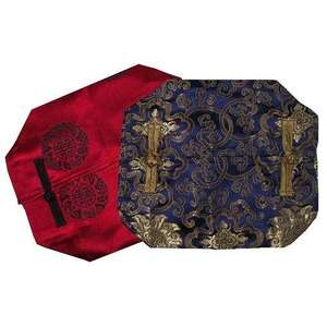 Colourful Chinese tissue holders with oriental patterns,