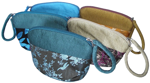 Chinese style cosmetic cases and toiletry bags,