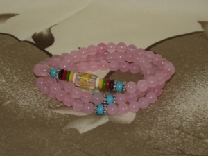 108 bead Mala with Rose Quartz gemstones,