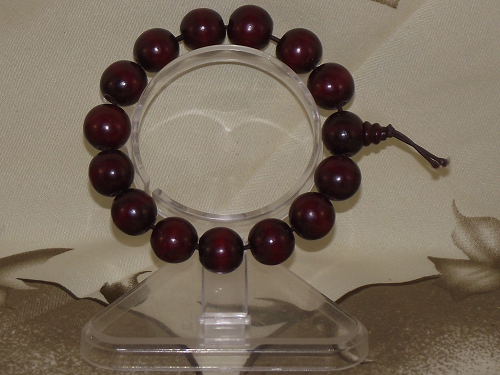 Chinese mala style bracelet with a Gourd and rosewood beads,