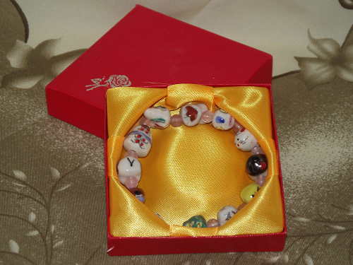 Zodiac Charm bracelets with animals of the Chinese zodiac,