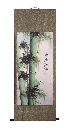 Large hand painted Chinese hanging wall scrolls,