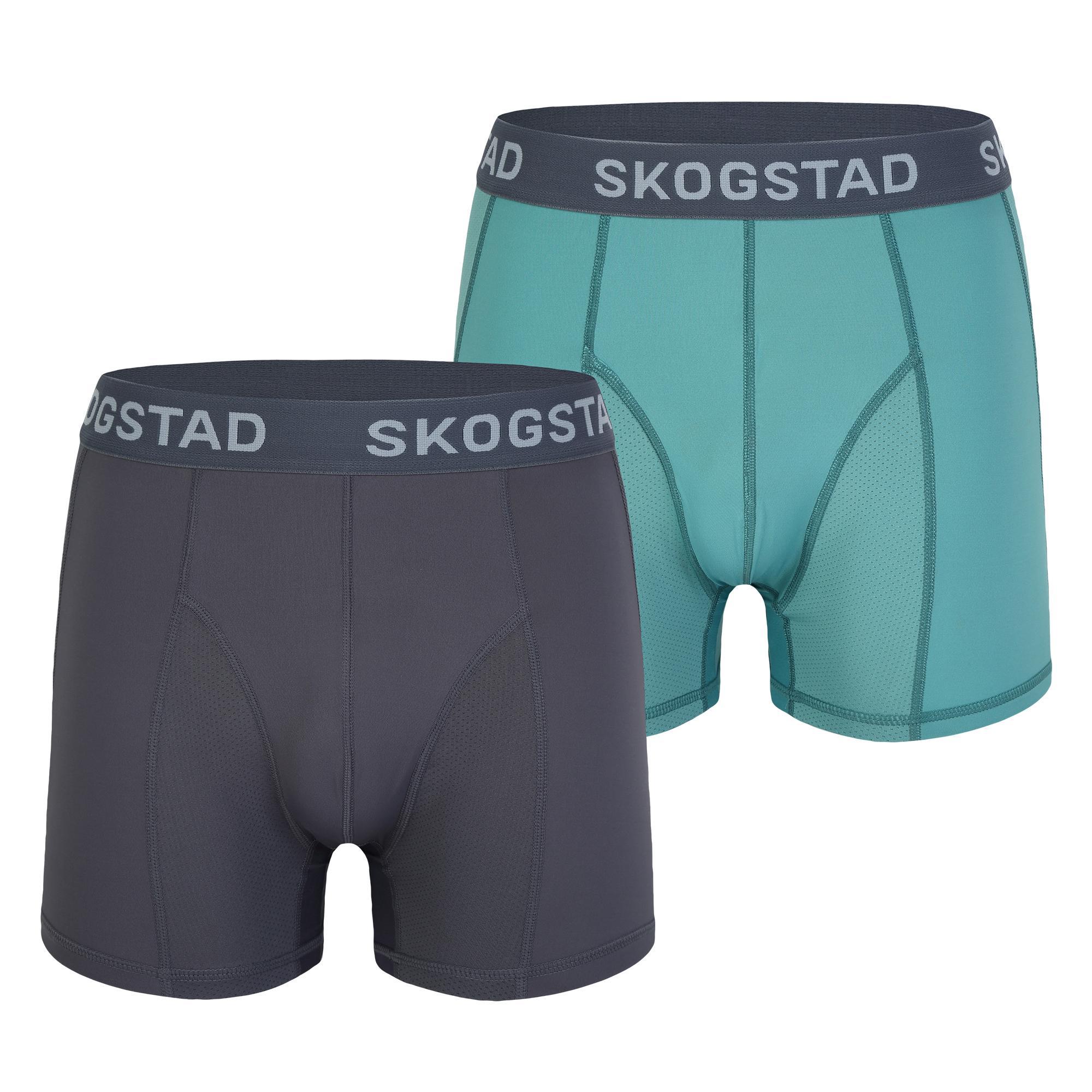 3faefcb64ee0 SKOGSTAD FOSSEFJELL 2 PK MENS BOXER STEEL/BRISTOL BLUE £24.00