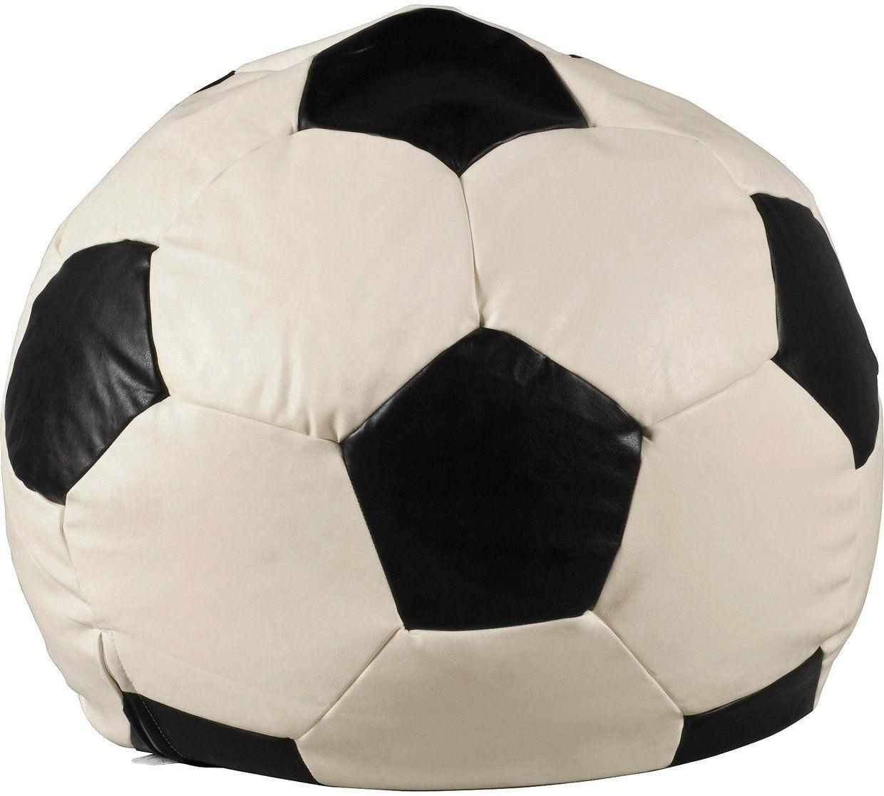 Leather Effect Football Beanbag Cover