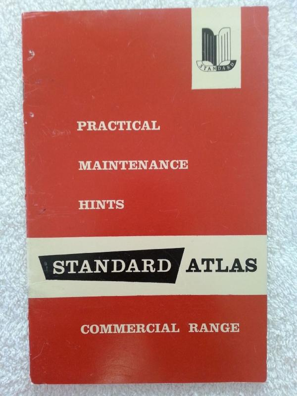 WorkShop Manuals for Standard Atlas