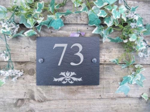 house number on slate