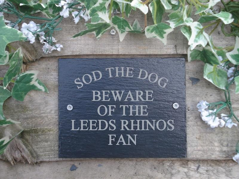 any rugby team slate plaque