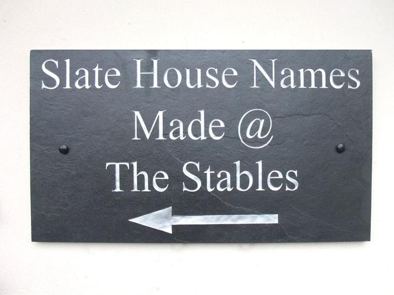 large deep engraved sign