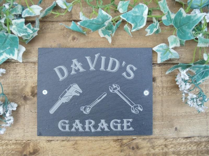 personalised garage slate sign