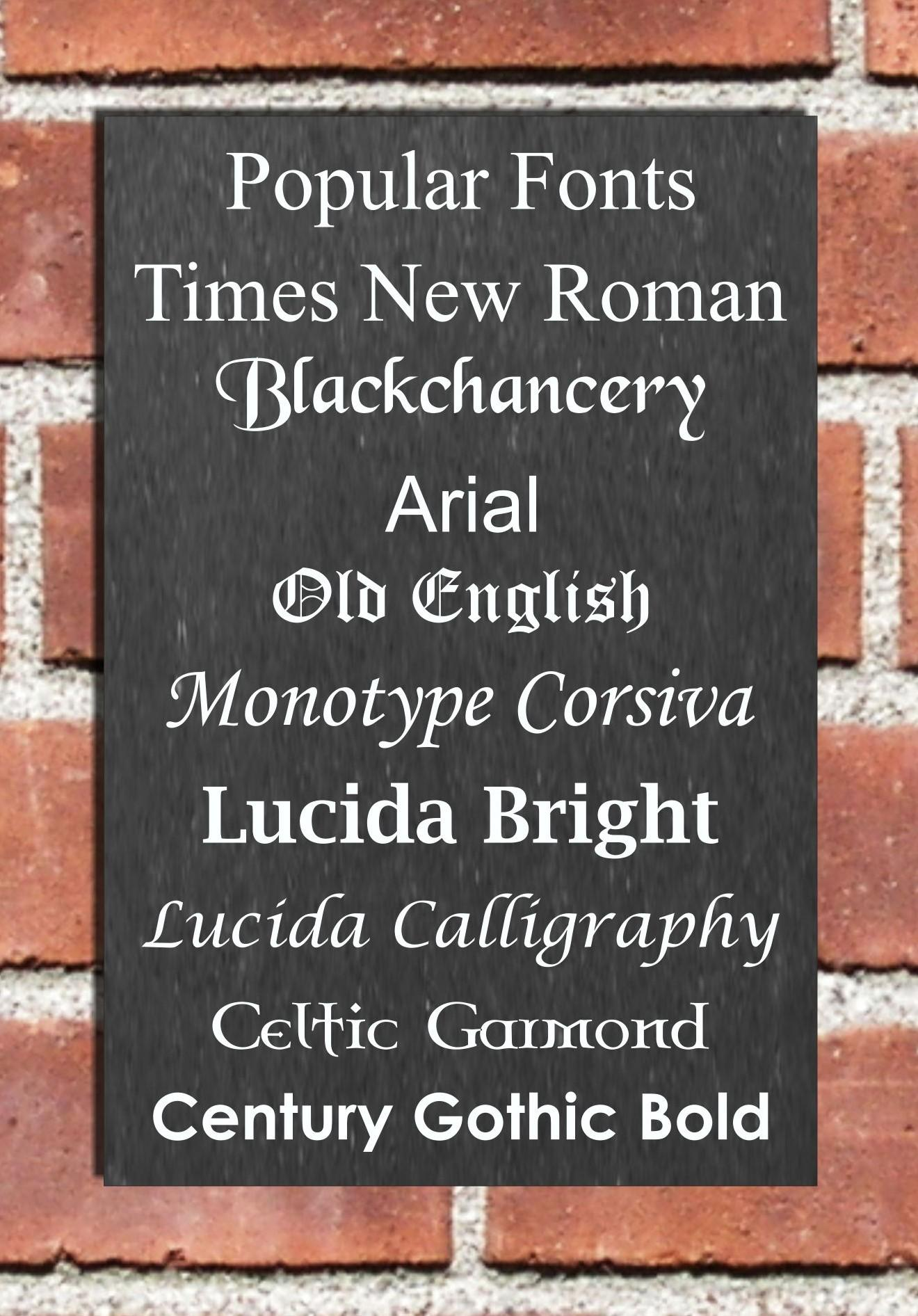 fonts for house names