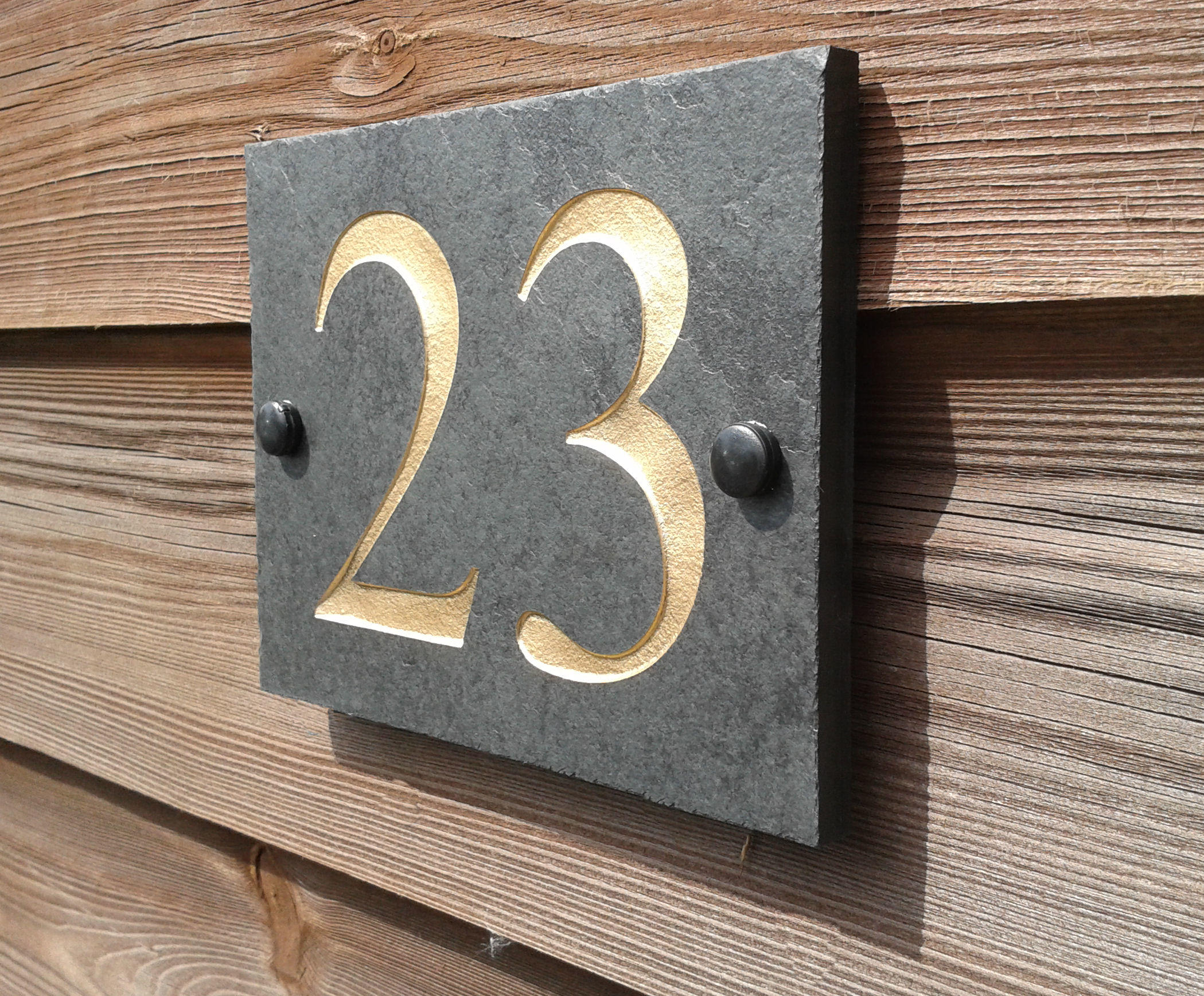 House numbers deep engraved 14cm x 11cm for Deep house names