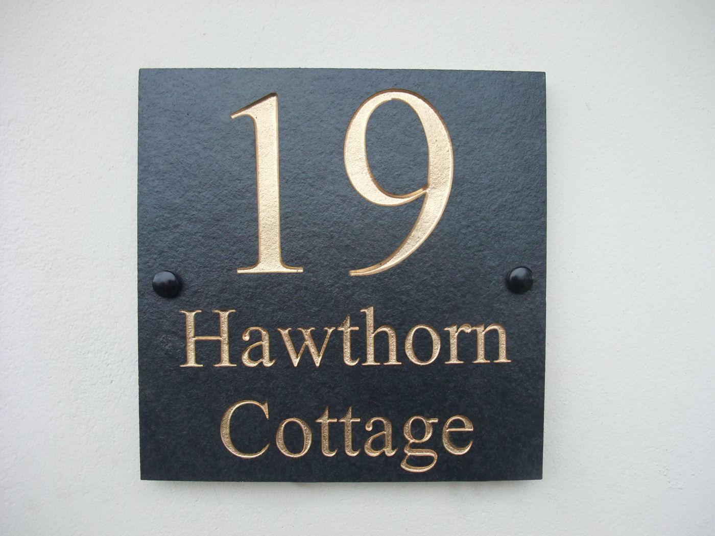 House name deep engraved 20cm x 20cm for Deep house names