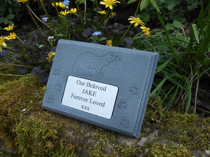 ferret memorial stone plaque