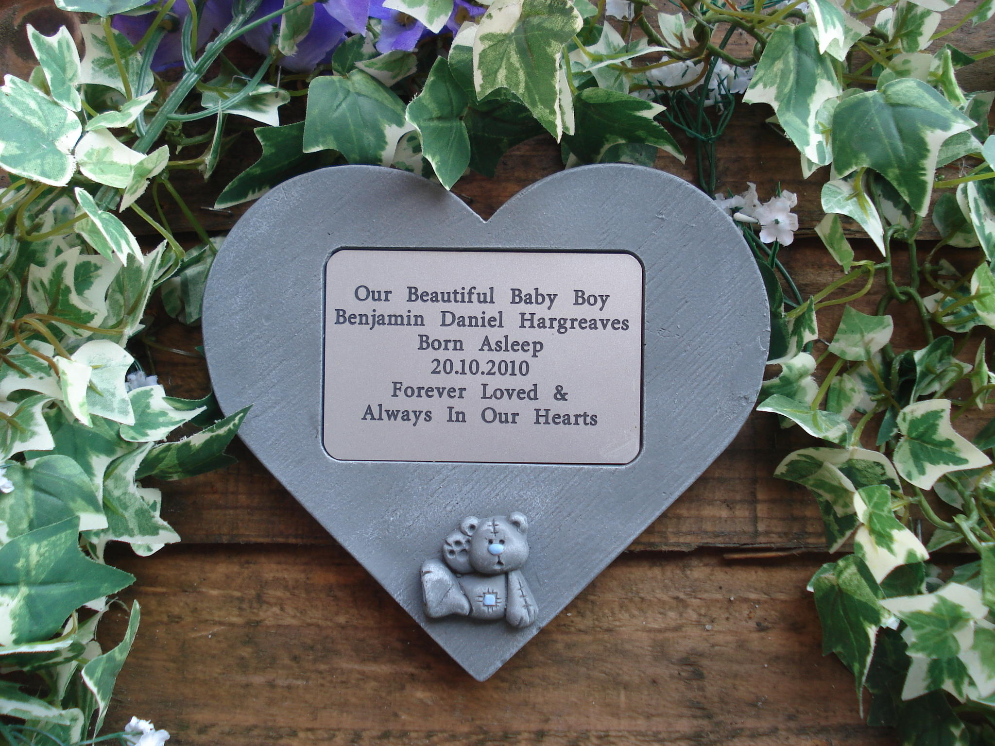 3D Teddy memorial heart