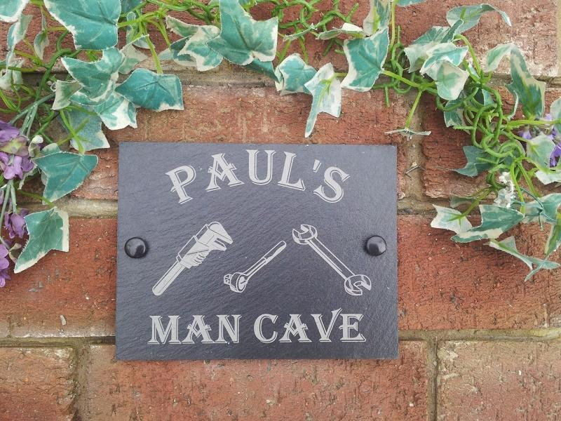 man cave slate plaque