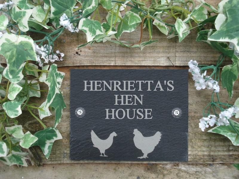 chicken / hen house personalised name