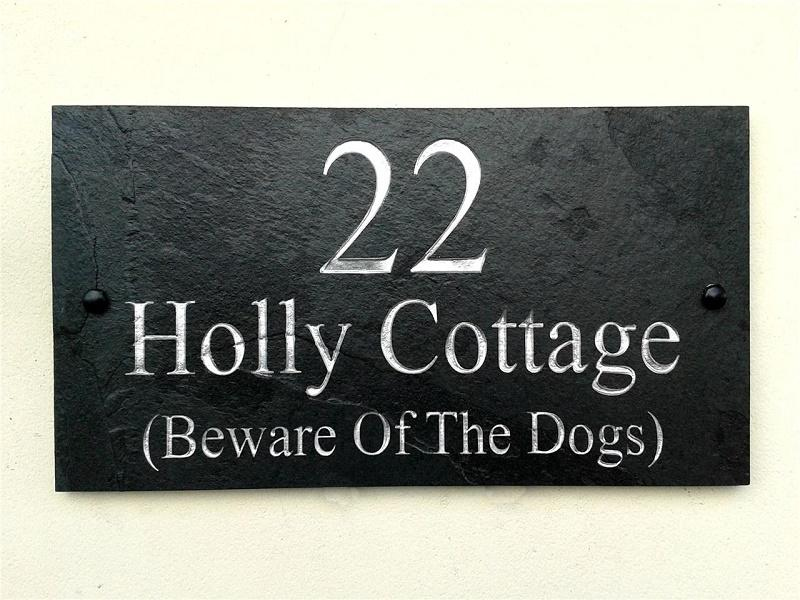 House name deep engraved 40cm x 20cm for Deep house names