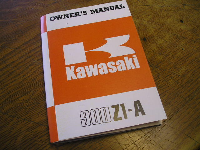 Owners Manual  Z1a 1974