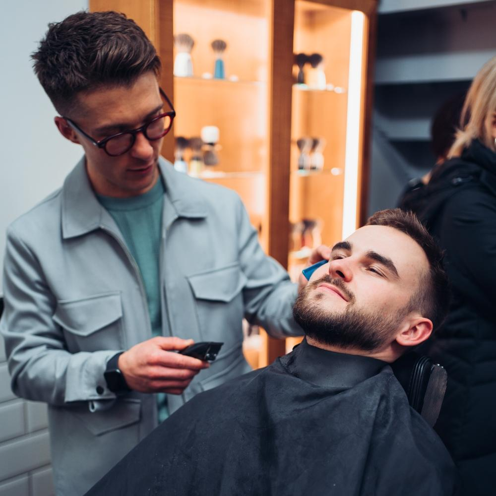 Pictured: The MÜHLE London Barbershop