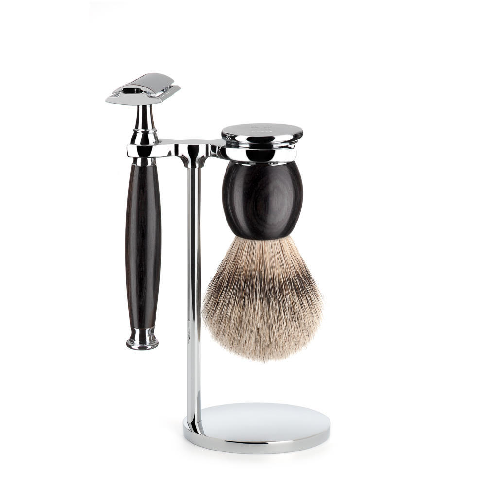 MUHLE SOPHIST Grenadille Silvertip Badger and Safety Razor Shaving Set - S93H85SR