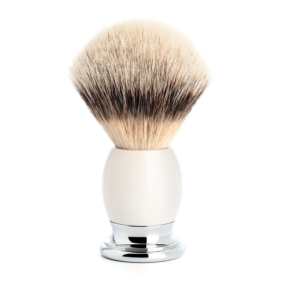 MUHLE SOPHIST Porcelain and Chrome Silvertip Badger Shaving Brush - 93P84