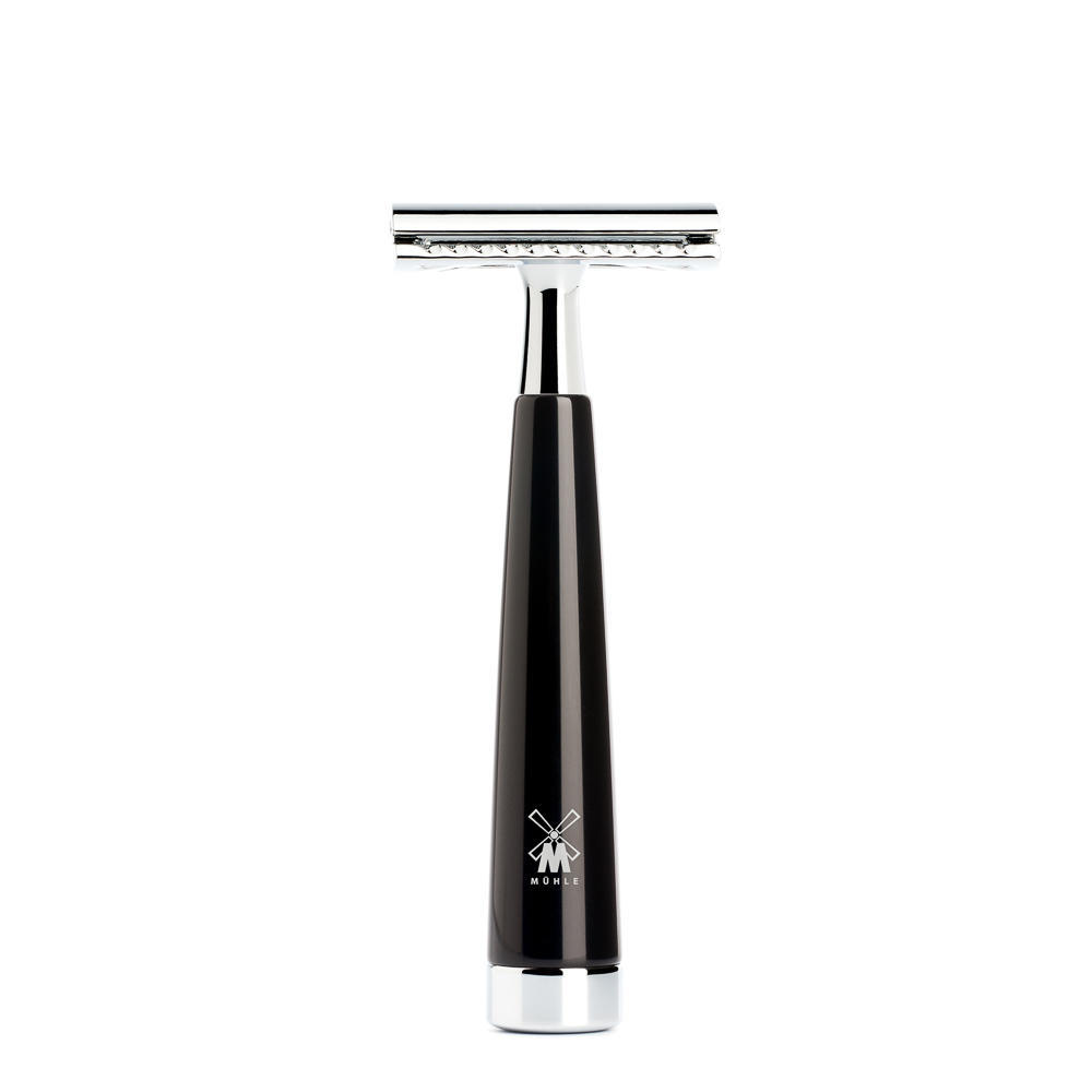 MUHLE LISCIO Black Resin Handle Safety Razor - R146SR