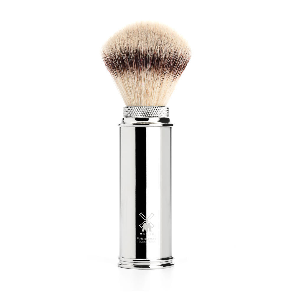 MUHLE TRAVEL Chrome Silvertip Fibre Travel Shaving Brush - 31M20