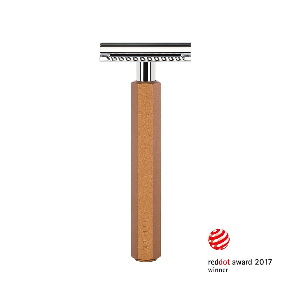 M__HLE HEXAGON Safety Razor, Handle Anodised Bronze Aluminum