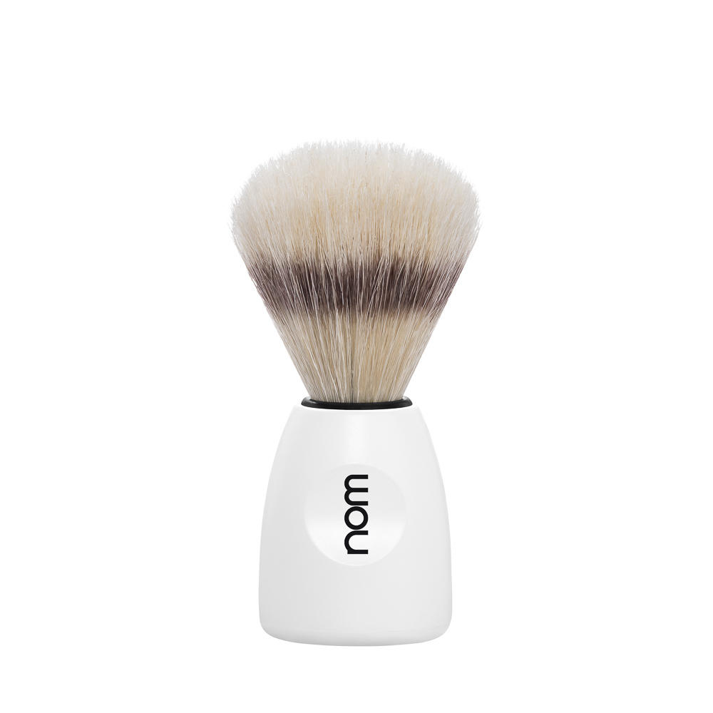 MÜHLE NOM, LASSE white, pure bristle shaving brush