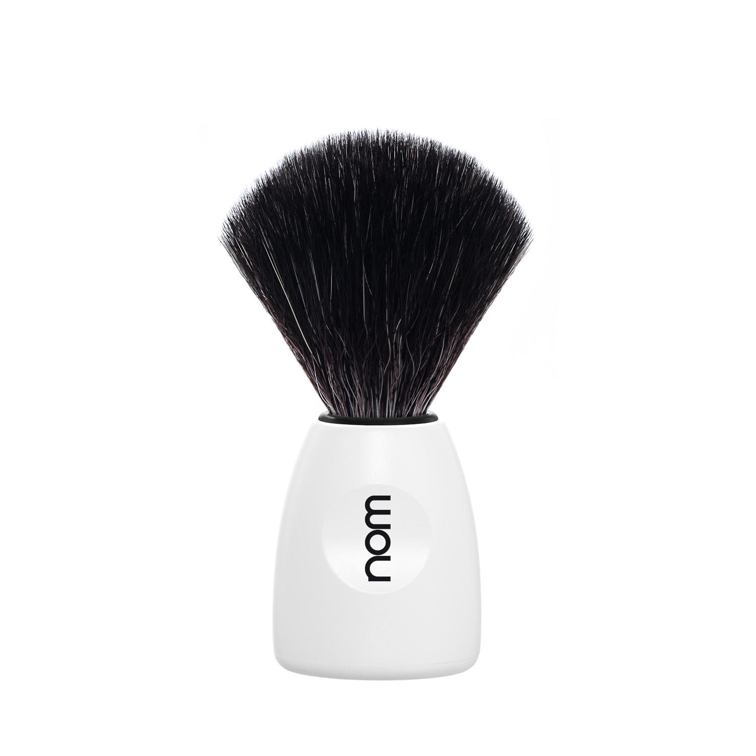 nom, LASSE in White with Black Fibre Shaving Brush