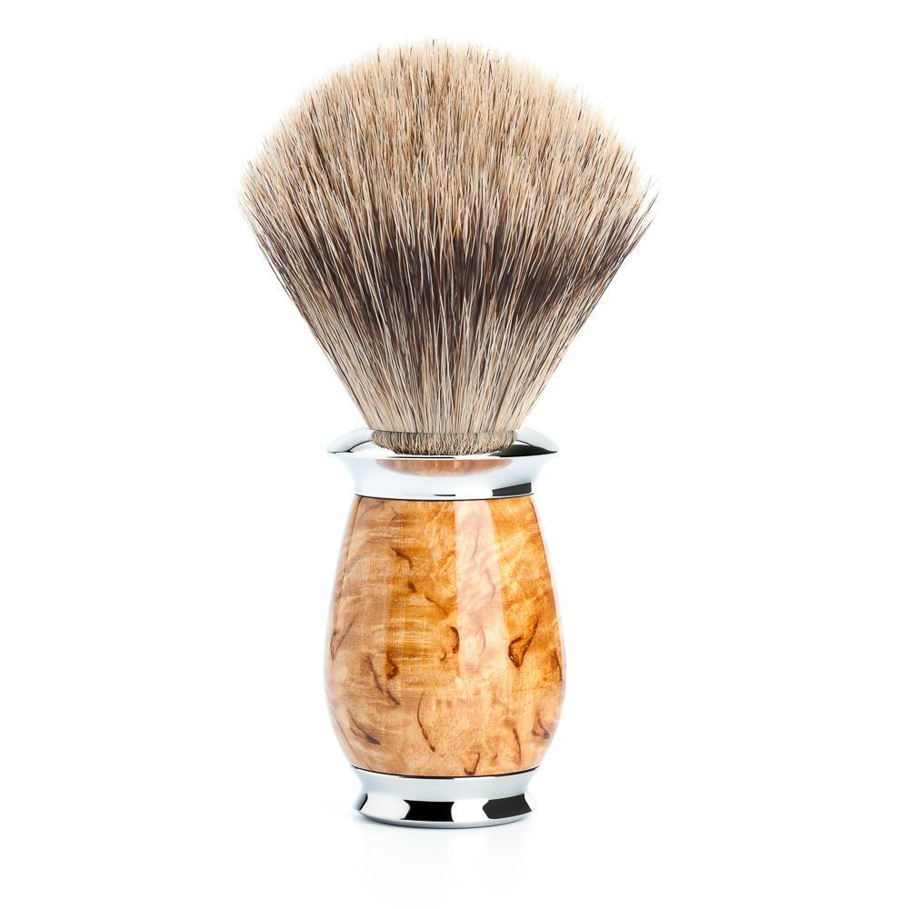 MUHLE PURIST Karelian Masur Birch Fine Badger Shaving Brush
