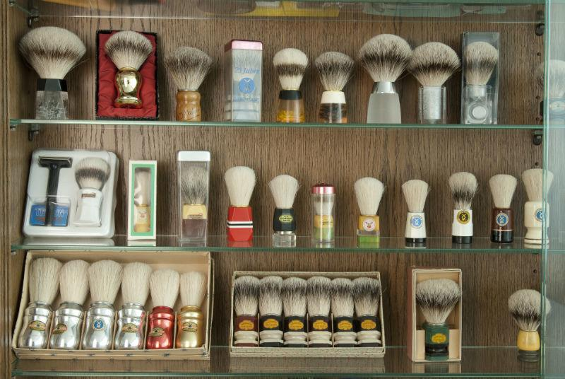 A selection of brushes from the MÜHLE historical collection.