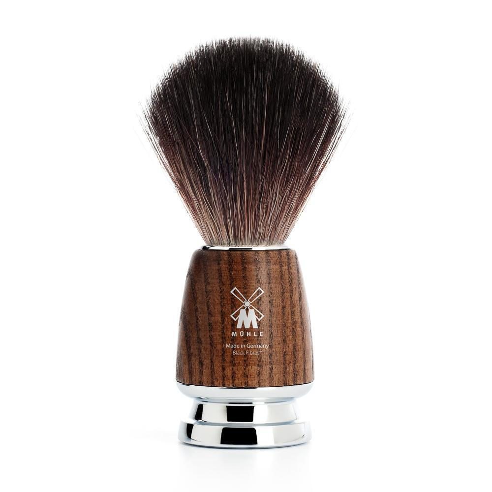 MÜHLE RYTMO steamed ash black fibre shaving brush