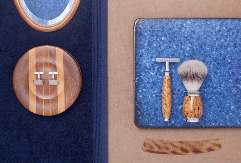 MÜHLE PURIST Karelian Masur Birch DE Razor and Vegan Silvertip Fibre Brush
