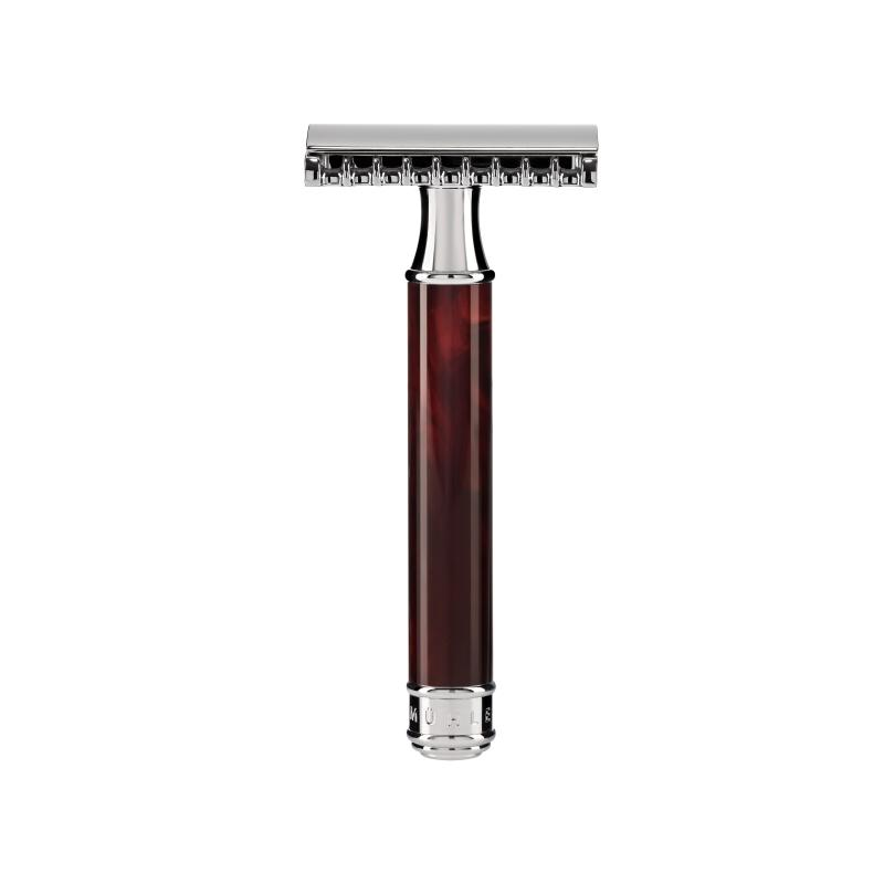Pictured: The TRADITIONAL Tortoiseshell Open Comb Razor by MÜHLE