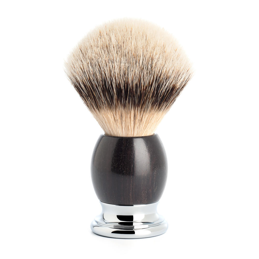 MUHLE SOPHIST Grenadille and Chrome Silvertip Badger Shaving Brush - 93H85