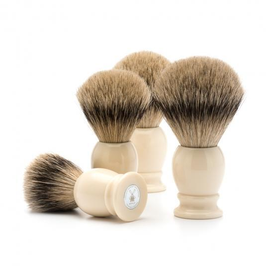 MUHLE Classic Faux Ivory Silvertip Badger Shaving Brushes
