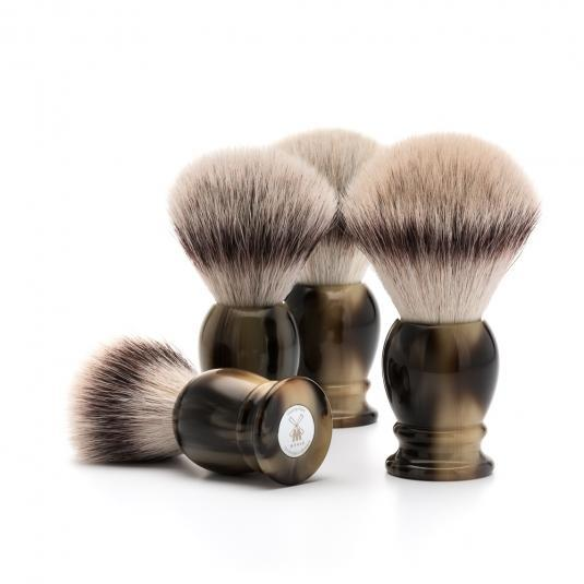 MUHLE Classic Brown Horn Silvertip Fibre Shaving Brushes