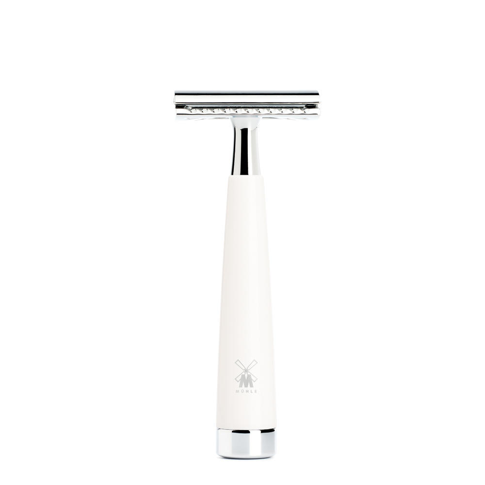 MUHLE LISCIO White Handle Safety Razor - R147SR