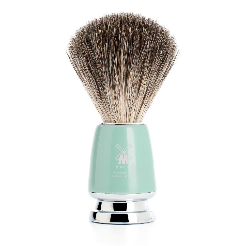 MUHLE RYTMO Mint Handle Pure Badger Shaving Brush - 81M224