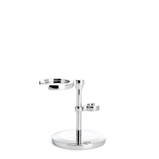 MUHLE Chrome Shaving Brush and Razor Stand - RHMSRSET