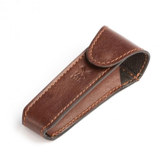 MUHLE Brown Leather Safety Razor Travel Pouch - RT6