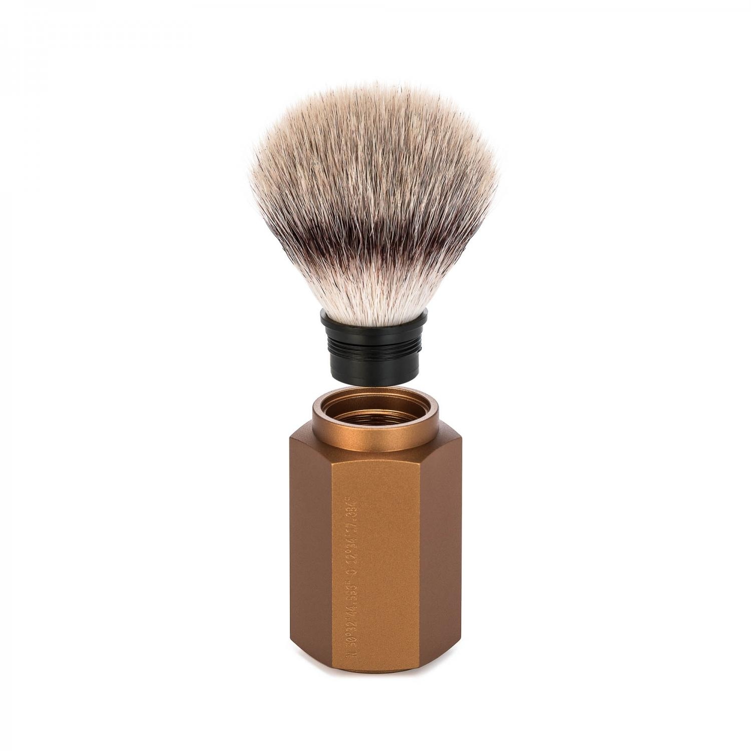 MUHLE HEXAGON Series Bronze Silvertip Fibre Brush