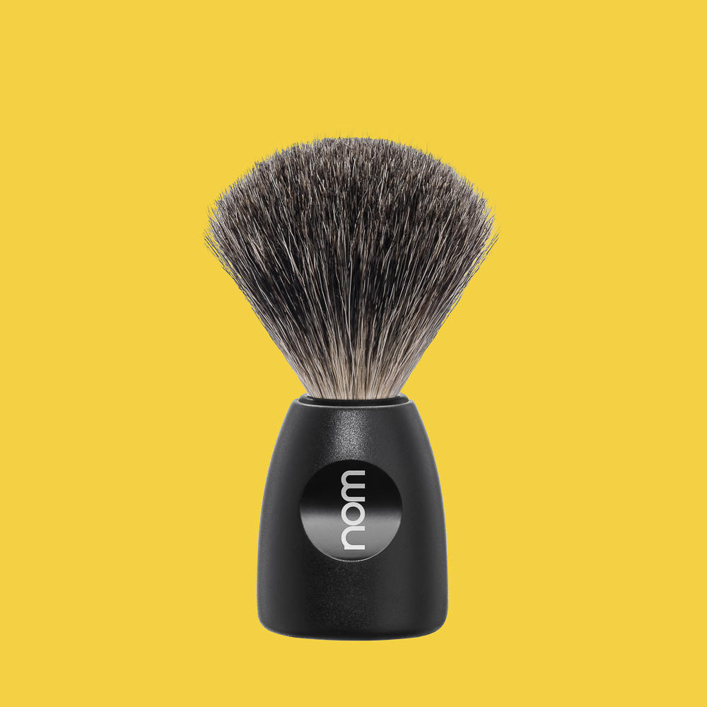 LASSE81BL NOM, LASSE black, pure badger shaving brush
