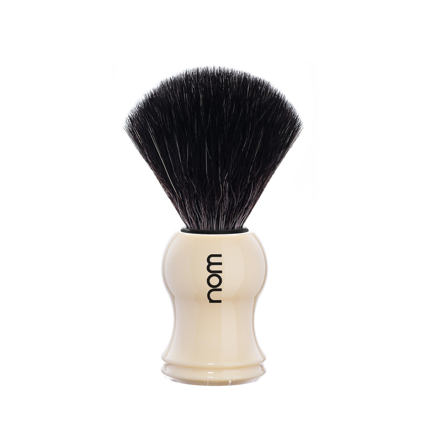 GUSTAV21CR nom LASSE, White, Black Fibre Shaving Brush