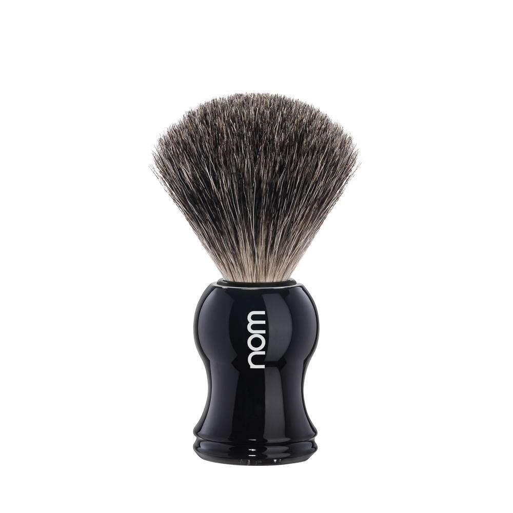 GUSTAV81BL nom GUSTAV, black, pure badger shaving brush