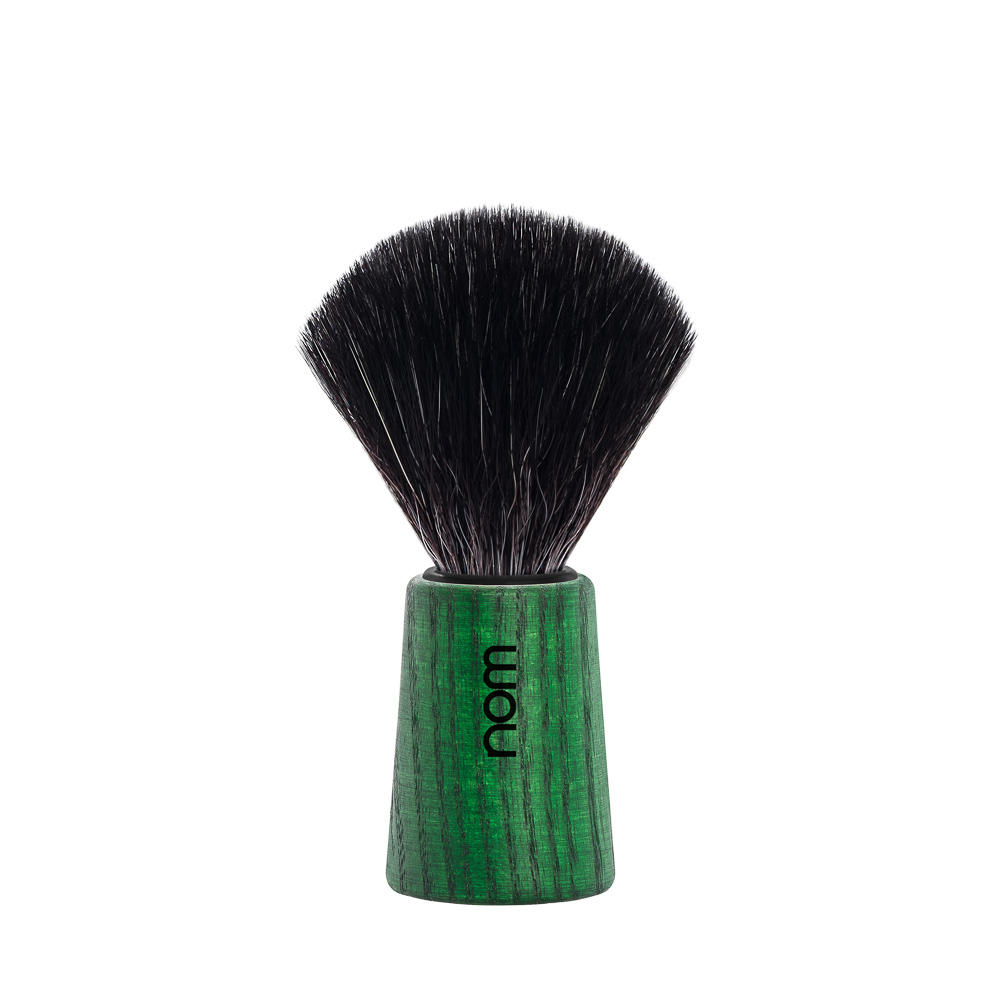 THEO21GA nom THEO, Green Ash, Black Fibre, Shaving Brush